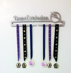 Personalized Gymnastics Medal Display by Reflective Edge Designs