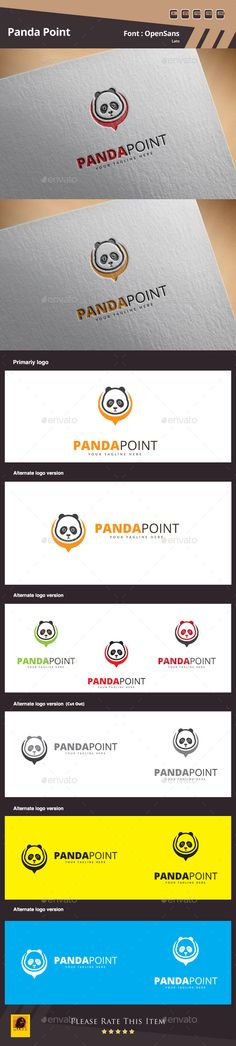 Panda Point Logo Design Template Vector #logotype Download it here: http://graphicriver.net/item/panda-point-logo-template/12820502?s_rank=885?ref=nexion