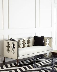 Shop Ballustrade Sofa from Haute House at Horchow, where you'll find new lower shipping on hundreds of home furnishings and gifts. Sofa Furniture, Sofa Chair, Living Room Furniture, Furniture Design, Cream Furniture, Funky Furniture, House Furniture, Handmade Furniture, Painted Furniture