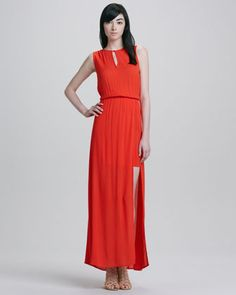Stella Side-Slit Maxi Dress by Ella Moss at Neiman Marcus. - $218 - small avail