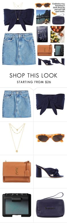 """""""SUMMER MEMORIES"""" by emmas-fashion-diary ❤ liked on Polyvore featuring Anine Bing, Solid & Striped, BaubleBar, RetroSuperFuture, Yves Saint Laurent, Loeffler Randall, NARS Cosmetics and Braccialini"""
