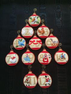 12 Days of Christmas Ornaments ~ Canvas by Kirk & Bradley