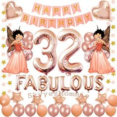 Betty Boop Happy 32nd Birthday, Happy 32nd Birthday Betty Boop Birthday, 32 Birthday, Happy Birthday Celebration, Disney, Birthday Wishes, Disney Art