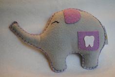 Tooth Fairy  PillowSweet Lil' Ellie Elephant by memeandsaysay