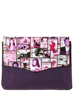 Purple color fashionable Handbag