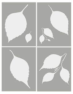 Leaf Stencils Large Leaves Stencil Falling Birch Leaves