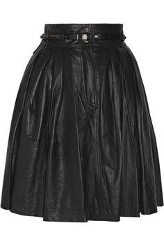 Leather skirt. LOVE.