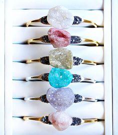 Boho Druzy Jewelry Bohemian Jewelry for Her Druzy Gemstone