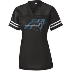 Personalize Panthers Fitted Sport-Tek Ladies Replica Jersey.ndk2151