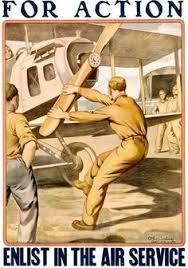 American WWI propaganda poster regarding selective service