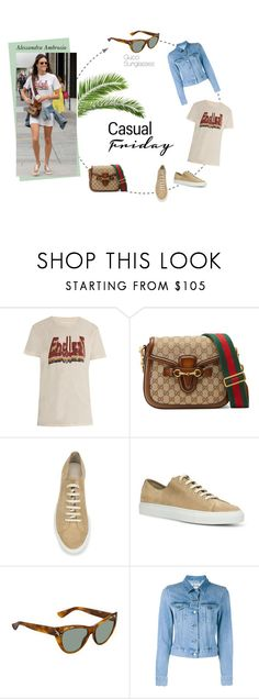 """""""Casual Day with Alessandra Ambrosio"""" by visiondirect ❤ liked on Polyvore featuring Étoile Isabel Marant, Gucci, Common Projects and Acne Studios"""