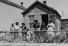 Rhone Family on their Homestead in Wyoming