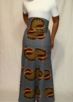 African Inspired High Waist Trumpet Skirt by Beauje @Etsy #Africa #African Fashion