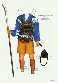 Japanese Warrior Costumes Paper Dolls (Ming-Ju Sun) - Nena bonecas de papel - Picasa Web Albums