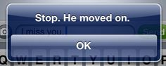 stop. he moved on