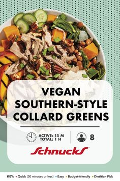 Add as much spicy as you like–soul food at it's best. Veggie Recipes, New Recipes, Grits And Eggs, Southern Style Collard Greens, Smoked Pork Shoulder, Roasted Broccolini, Tzatziki Recipes, Kalua Pork