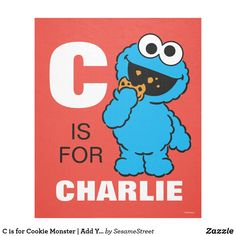 C is for Cookie Monster | Add Your Name Fleece Blanket