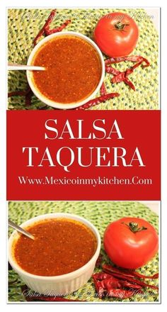 This is a very spicy salsa, but you can adjust the spiciness to fit your own taste by reducing the amount of Arbol peppers. This is a very spicy salsa, but you can adjust the spiciness to fit your own taste by reducing the amount of Arbol peppers. Authentic Mexican Recipes, Mexican Salsa Recipes, Mexican Dishes, Authentic Salsa Recipe, Mexican Desserts, Cuban Recipes, Hot Salsa, Spicy Salsa, Habanero Salsa