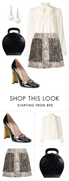 """""""Lovely Mary Janes"""" by arta13 ❤ liked on Polyvore featuring Gucci, Somerset by Alice Temperley, Christopher Kane, Chanel and Belpearl"""