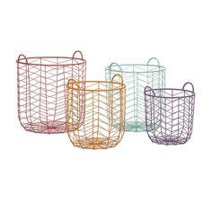 Maya Metal Baskets | Grandiflora Home