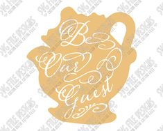 Mrs. Potts Silhouette Disney Word Art Cut File Set in SVG, EPS, DXF, JPEG, and PNG