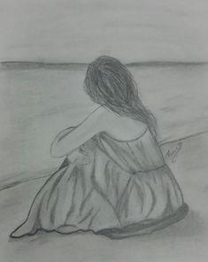 Disney Drawings Sketches, Art Drawings Sketches Simple, Girl Drawing Sketches, Sad Drawings, Girly Drawings, Art Drawings Beautiful, Abstract Pencil Drawings, Wie Zeichnet Man Manga, Profile