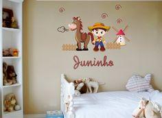 Adesivo decorativo para parede e superfície lisa A cartela contém 1 cowboy  medindo 42cm altura 1 efde4b1de34