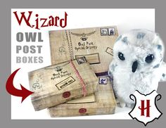 Hey, I found this really awesome Etsy listing at https://www.etsy.com/listing/483681807/owl-post-boxes-wizard-party-harry-potter