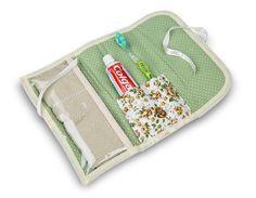 porta escova de dente com toalhinha pequena