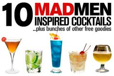 """10 """"Mad Men""""-Inspired Classic Cocktails to Mix Up for Season 5!"""