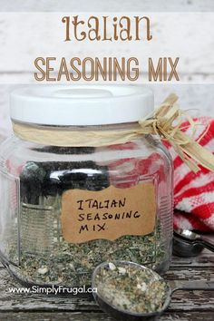 Homemade Italian Seasoning Mix. Give your grocery budget a break and make Italian dressing from scratch!