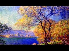Copy of Monet landscape painting. Easy impressionist painting techniques. Oil painting or acrylics - YouTube