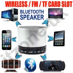 BLUETOOTH WIRELESS MINI PORTABLE SPEAKER SPEAKERS FOR IPHONE IPAD MP3 SAMSUNG UK