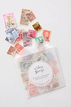 Lovely vintage stamps from Anthro at a really great price ($1.50) I'm definitely picking some up for wedding invite portfolio photos.