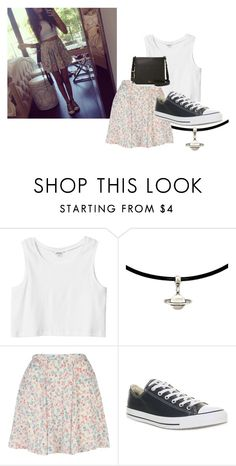 """""""Madison Beer Inspired Outfit"""" by mckinleyblu ❤ liked on Polyvore featuring Monki, Converse and FOSSIL"""