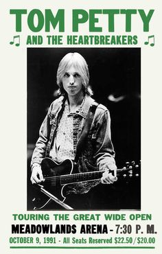 Tom Petty And The Heartbreakers Concert Poster https://www.facebook.com/FromTheWaybackMachine/