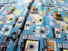 Riley Blake Geekly Chic 2 Cameras Blue C527-02