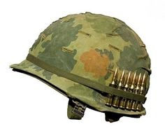 US Vietnam War Helmet. A US military helmet with an Mitchell pattern camoufla… US Vietnam War Helmet. A US military helmet with an Mitchell pattern camoufla ,