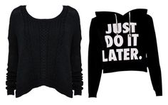 """""""I want this shirt that will say, just do it!!!!!???!!!!!!! Like the one that says just do it later"""" by isabellacastro19 ❤ liked on Polyvore"""