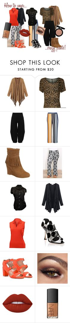 """""""How To Wear Crazy Pants!"""" by angelkyle on Polyvore featuring WearAll, Kekoo, River Island, Nancy Lopez, Manolo Blahnik, Laurence Dacade, Lime Crime, NARS Cosmetics and Giorgio Armani"""