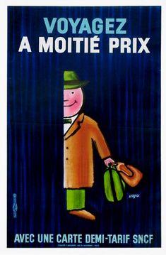 Raymond Savignac, SNCF Voyagez à moitié prix, 1972