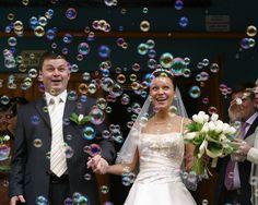 Bubble Wedding Sendoff So Cute Send Off Exits