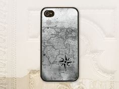 Map & compass cell phone case by LilStinkerDesign. Available for iPhone and Samsung Galaxy phones.