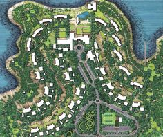 Paul Hill - Architectural Illustrator with Copic Markers - Nolli Map Urban Design Concept, Urban Design Plan, Landscape Plans, Urban Landscape, Architecture Drawings, Landscape Architecture, Lanscape Design, Resort Plan, Urban Village