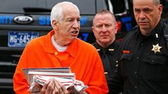 Former Penn State assistant football coach Jerry Sandusky appeared in a Pennsylvania courtroom today seeking to appeal his child-sex abuse conviction.  In 2012, Sandusky was sentenced to 30 to 60 years in prison for the sexual abuse of 10 boys, following tearful testimony from his victims.  Sandusky&
