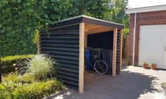 Garbage Storage, Bike Storage, Raised Beds, Shed, Home And Garden, Outdoor Structures, Exterior, Louvre, Outdoor Decor