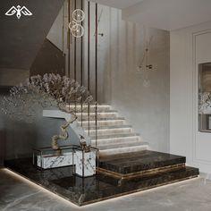 Mansion Interior, Interior Stairs, Luxury Interior, Home Stairs Design, Modern House Design, Villa Design, Floor Design, House Stairs, Closet Designs
