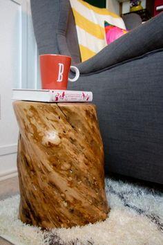 Do you like tree stump decorating? Vote now on HGTV's Design Happens blog!