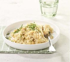 Risotto aux chicons et au saumon fumé | Colruyt Recipe Details, Saveur, Fish And Seafood, Seafood Recipes, Pizza, Bbq, Cooking, Ethnic Recipes, Drinks