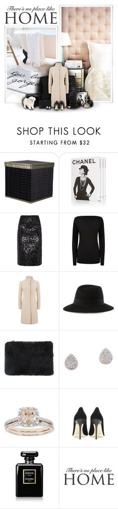 """There's No Place Like Home"" by stylebyrachelle ❤ liked on Polyvore featuring Assouline Publishing, By Malene Birger, Tomas Maier, Reiss, Maison Michel, Elie Saab, Monica Vinader, Modern Bride, Jimmy Choo and Chanel"